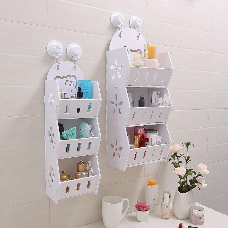 免打孔卫生间置物架壁挂墙上收纳架洗手间卧室客厅浴室整理储物架
