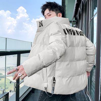 男士外套冬季2020新款棉衣情侣韩版修身潮流短款棉袄工装羽绒棉