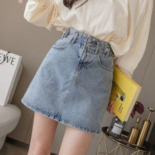 高腰A字显瘦包臀牛仔短裙