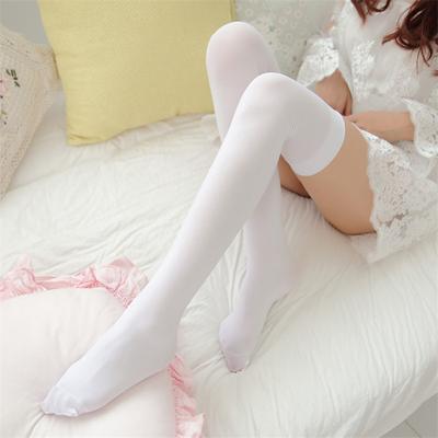 日系过膝袜中高筒长袜子女学生半截小腿袜黑白色丝袜韩国夏季薄款