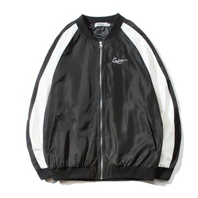 Nhật bản mùa xuân thư thêu màu sắc tương phản đồng phục bóng chày áo khoác nam Hàn Quốc phiên bản của thanh niên hip hop lỏng trai áo khoác ngắn triều Đồng phục bóng chày
