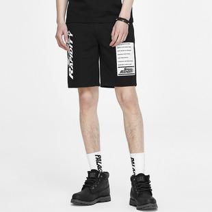 GXG商场男士黑色修身针织时尚短裤