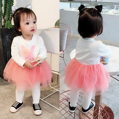 女婴儿童连衣裙秋装女宝宝0卫衣服2小童1周岁3洋气公主裙子秋秋装