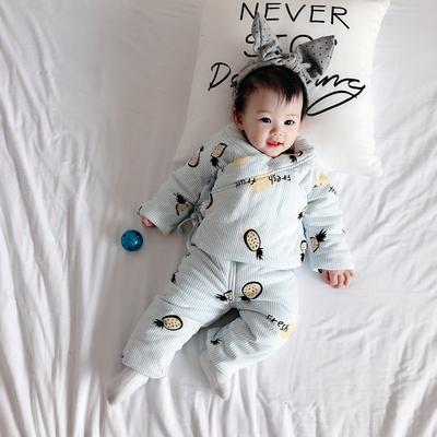 男童婴儿棉服冬装女童宝宝加厚冬季儿童外套装反季清仓衣服中长款