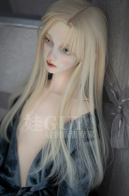 taobao agent Baby GUY spot sd17 uncle bjd3 points male side points asymmetrical bangs air adduction hand change wig small three points