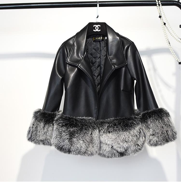 2017 mới giả lông thú áo khoác nữ phần ngắn khâu giả con cáo lông giảm béo da mùa đông dày áo sơ mi