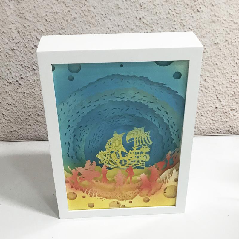 海贼王光影纸雕灯小夜灯,生日礼品礼物