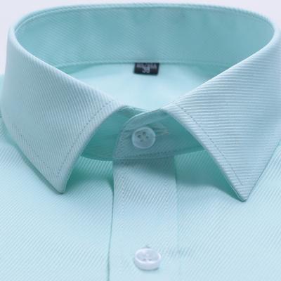 Rắn màu nam ngắn tay áo sơ mi nơi làm việc kinh doanh nóng giản dị áo sơ mi trắng thanh niên nam giới cưới quần áo chuyên nghiệp L sơ mi đen nam Áo