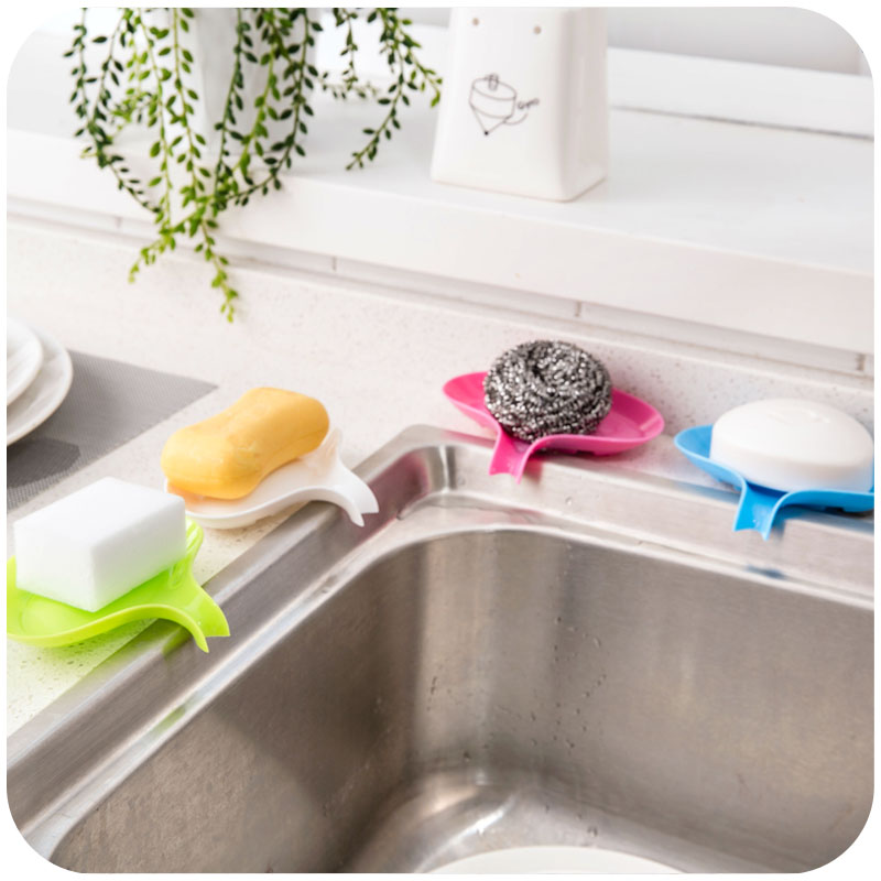 Soap Dish Plastic Sink Organizer Water Bathroom Shower Kitchen Holder Drain Dry Saver Waterfall Container Box New In Accessories