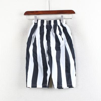 草莓系列品牌折扣剪标竖条纹简约女童休闲裤时尚百搭A4330