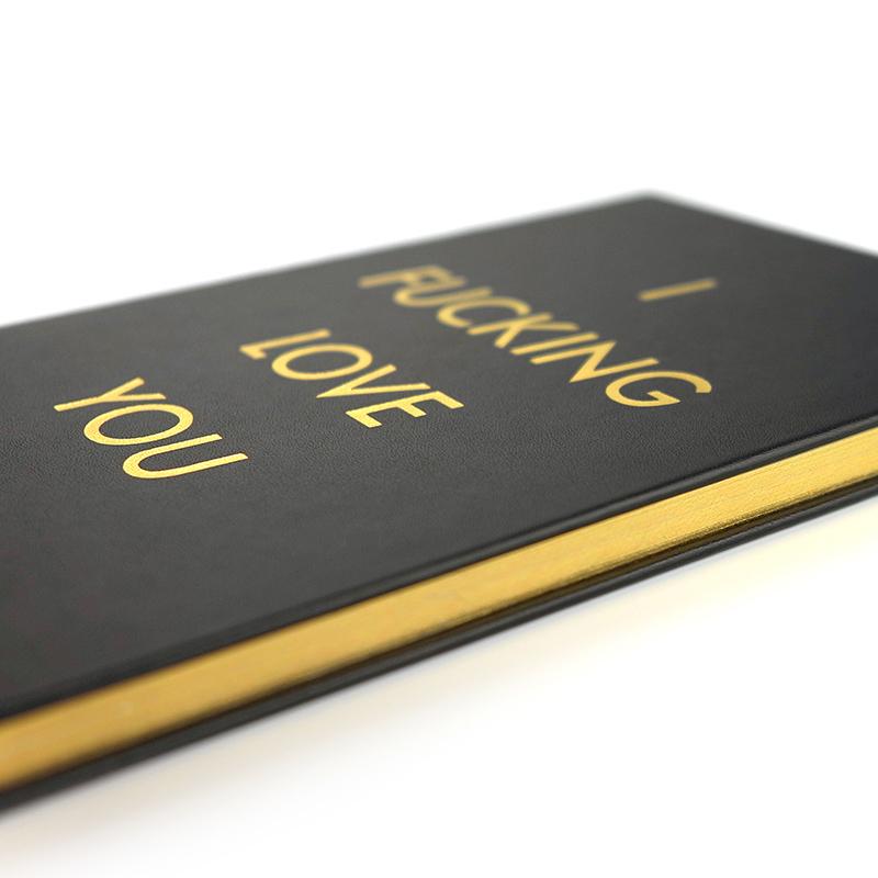 极简黑金表白笔记本,送女生表白礼物