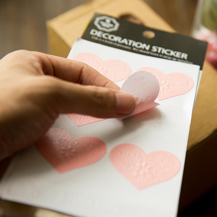 韩国创意烫金信封封口贴 仿浮雕复古装饰立体礼物贴纸 金属标签贴