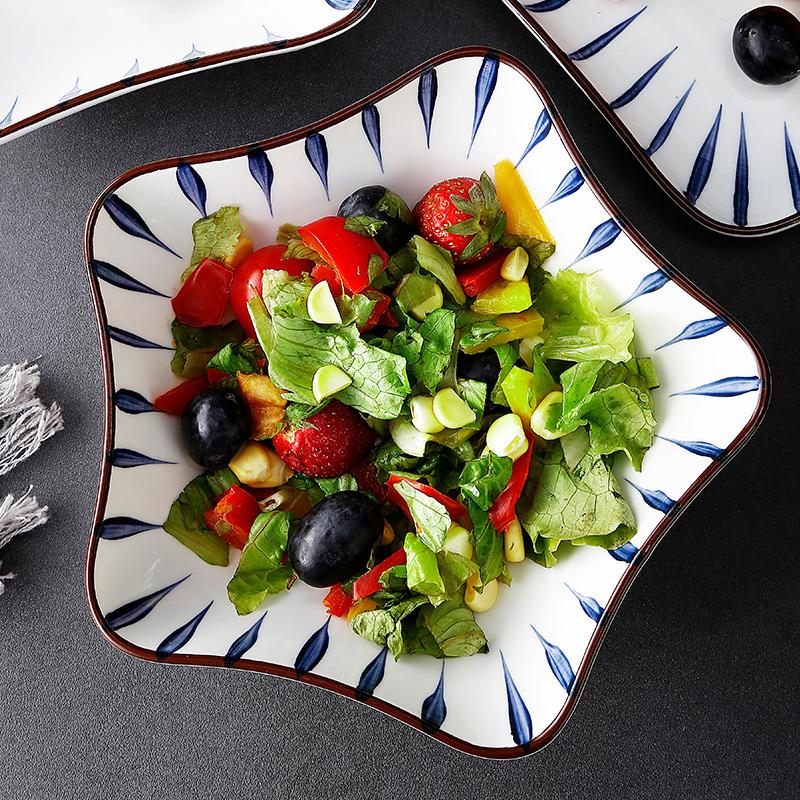 日式盘子创意家用个性菜盘异形餐具