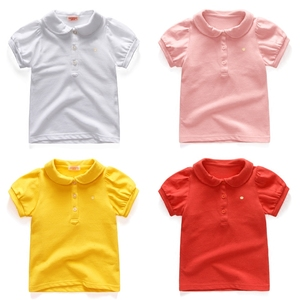 韩版女童t恤短袖儿polo