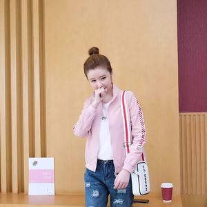 實拍2019秋季新款休閑短款小外套夾克百搭韓版女學生上衣棒球服潮