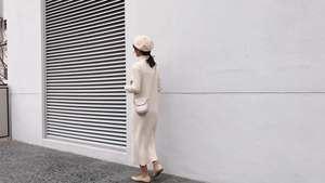 韩版高领打底针织连衣裙女秋装2018新款直筒长款毛衣裙