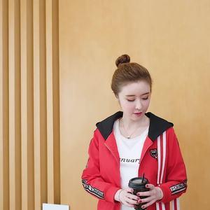 2019新款韓版女學生時尚休閑連帽短款百搭上衣夾克棒球服外套女潮