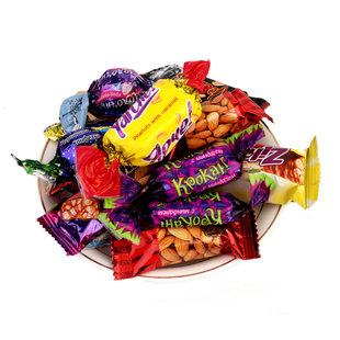 俄罗斯进口巧克力紫皮糖500g