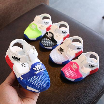 Босоножки с ТаоБао Девочек сандалии 2019 лето ребенок мужского пола сандалии детская спортивная обувь сетка обувь для пляжа Детская обувь для малышей 1-3 лет 2 фото 1