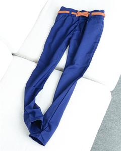 23046 mùa xuân và mùa thu mới của phụ nữ quần màu rắn Hàn Quốc phiên bản của hoang dã England gió quần quần phù hợp với quần M15-16