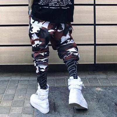 2017 thời trang đường phố Châu Âu và Hoa Kỳ đường phố ngụy trang đa chức năng quần của nam giới chùm đa túi casual loose yếm quần Quần làm việc