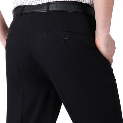 2018 mùa hè mới phần mỏng quần nam lụa trung niên phù hợp với quần thẳng người đàn ông giản dị của quần từ nóng Suit phù hợp
