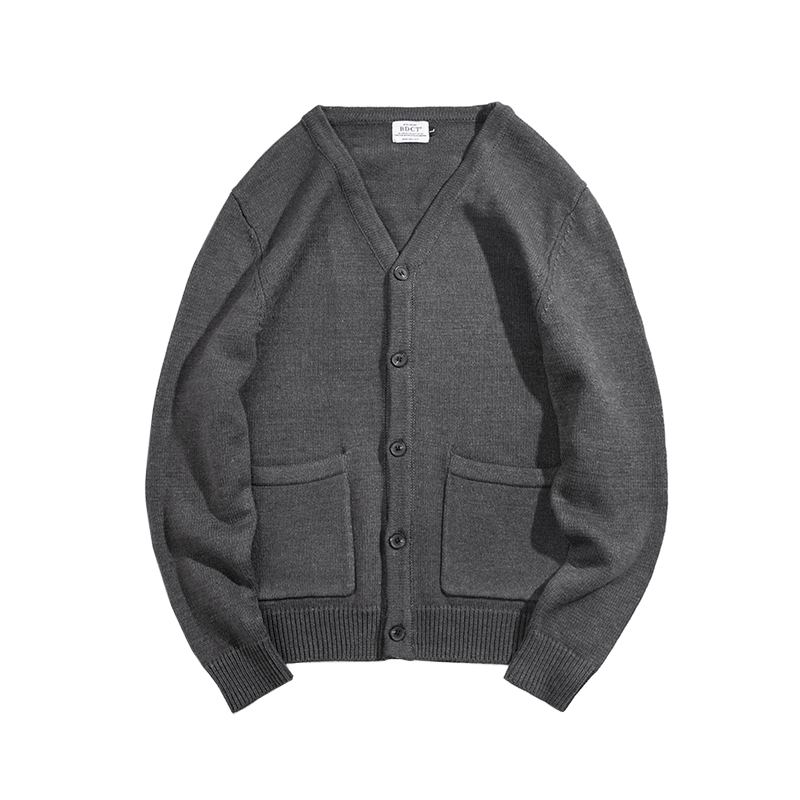 BDCT original Japanese retro trendy brand knitted cardigan men's early spring new style sweater sweater jacket trend