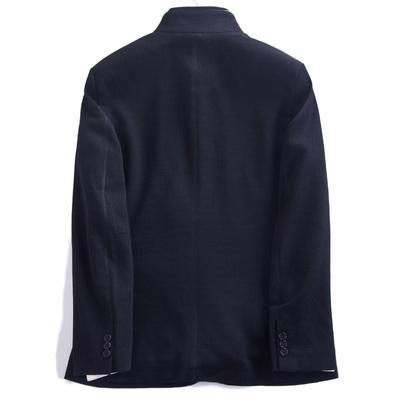 Lijia mùa thu và mùa đông kinh doanh bình thường cổ áo đơn ngực 30.4% áo len hai lớp cổ áo ấm áo gió áo khoác Áo len