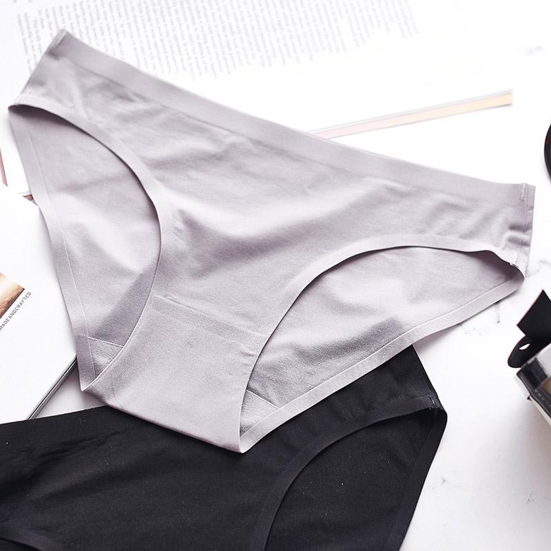 三送一少女冰丝无痕薄款隐形内裤女低腰舒适纯棉透气学生三角底裤