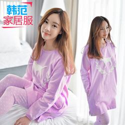 秋季纯棉长袖睡衣