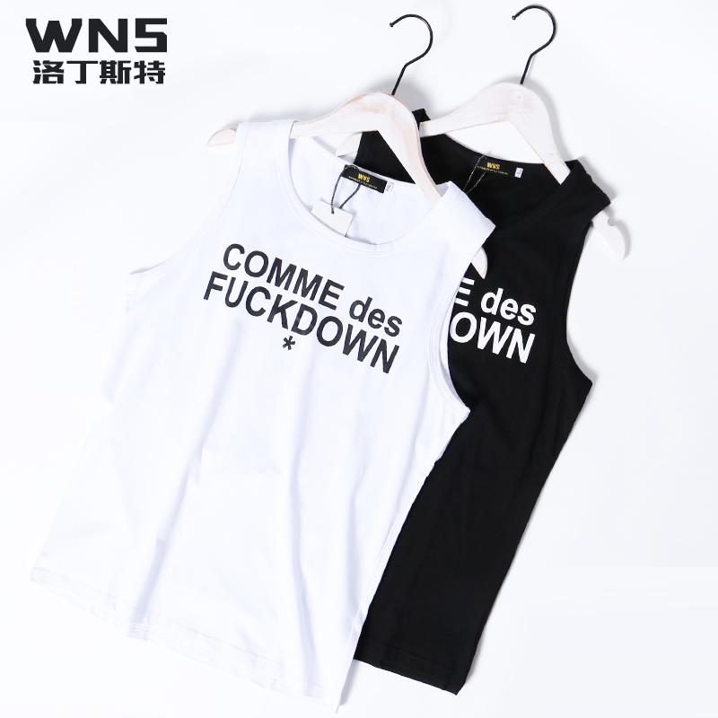 Mùa hè mới của Hàn Quốc phiên bản của tự trồng dệt kim t-shirt vest casual Slim không tay vest triều cá tính nam mùa hè vest