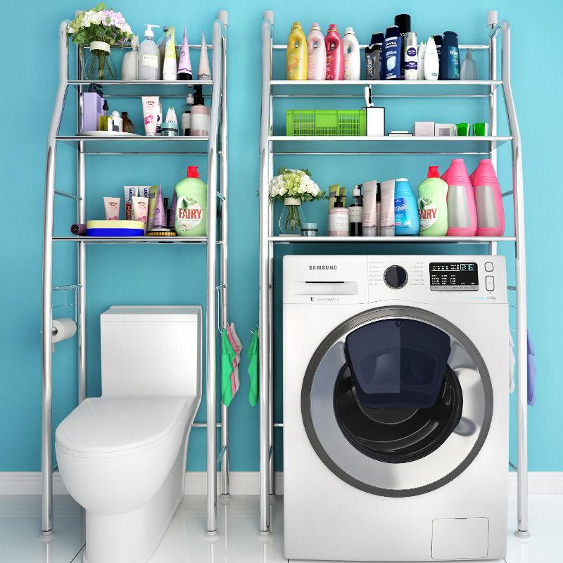 不锈钢卫生间置物架壁挂浴室收纳厕所洗手间洗衣机马桶架子落地式