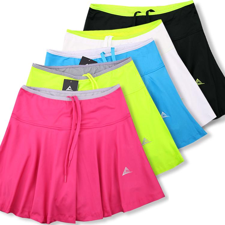 Haoyunqi thể thao ngoài trời quần váy nữ nhanh chóng làm khô chạy cầu lông quần vợt váy giả hai váy ngắn với một túi