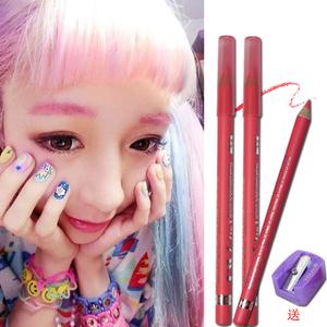 Rung cô gái tim cos bút kẻ mắt màu hồng hoa hồng đỏ rượu vang đỏ vàng tím đen trắng bóng mắt gel lông mày bút chì