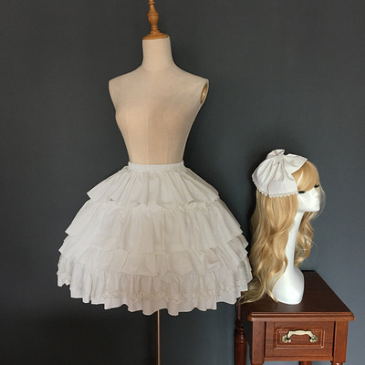 taobao agent Homemade Japanese soft girl lolit sweet Gothic court Lolita with petticoat fish bone skirt bow cos