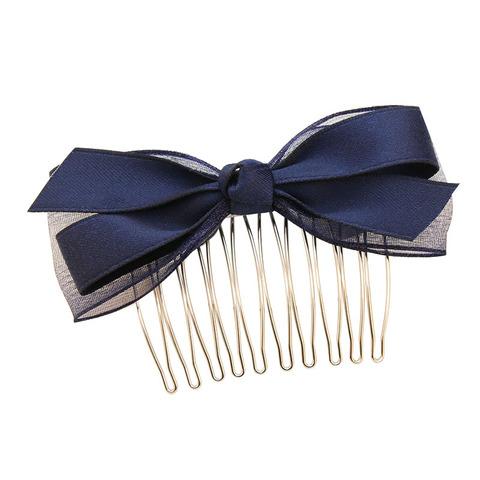 蝴蝶结发梳韩国头饰品发插梳刘海顶夹发饰简约发卡发夹发叉成人女