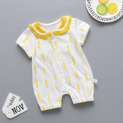 新生婴儿夏装可爱超萌男女宝宝连体衣婴幼儿夏季洋气薄款衣服