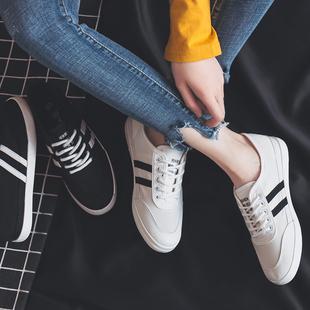 人本网面帆布鞋女2019春季平底透气小白鞋韩版百搭学生夏季休闲鞋