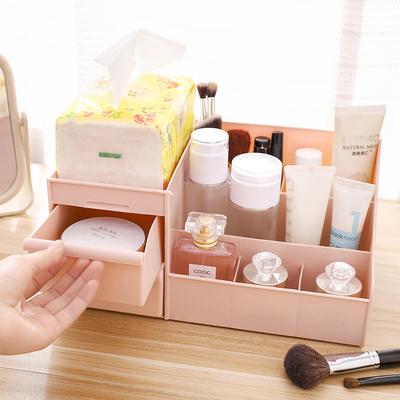化妆品收纳盒桌面办公抽屉式梳妆台护肤品首饰口红储物整理置物架