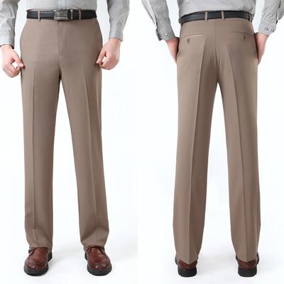 Quần nam mùa hè phần mỏng trung niên kinh doanh lụa thẳng giản dị chi phí thấp ăn mặc để làm việc phù hợp với quần lỏng
