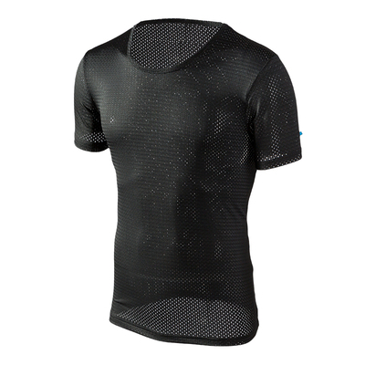 Băng lưới mắt ngắn tay T-Shirt nam rỗng lưới thoáng khí mát mẻ và nhanh chóng làm khô thể thao kích thước lớn của nam giới nửa tay áo mùa hè phần mỏng áo thun burberry Áo phông ngắn
