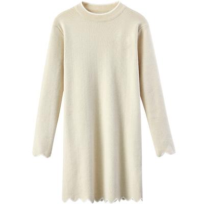 [Giá mới 59 nhân dân tệ] 2018 mùa xuân mới tính khí hit màu ren len đan đầm váy dài Sản phẩm HOT