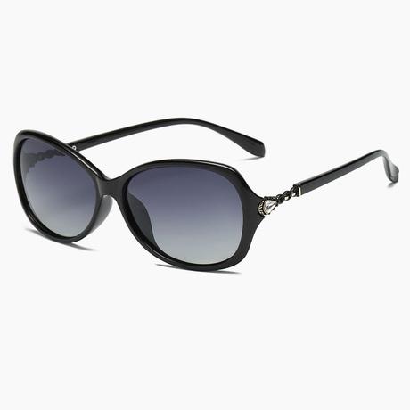 优雅小框小脸复古眼镜 西莎2018新款女士偏光太阳镜驾驶开车潮墨镜
