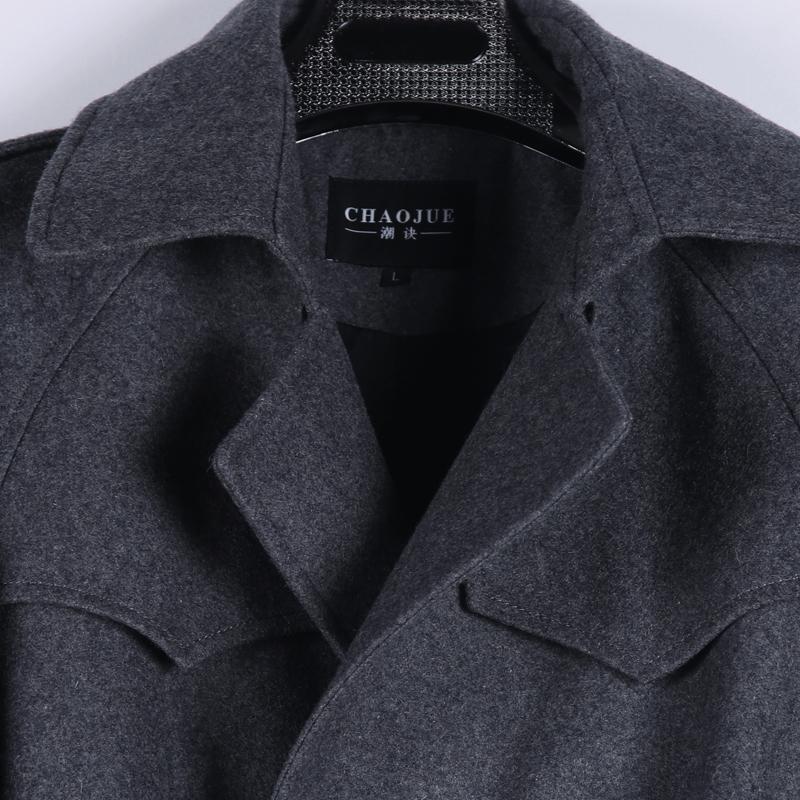 Chaoshan lỏng áo len nam raglan tay áo 2017 mùa thu và mùa đông mới đôi ngực kích thước lớn áo len 1122 Áo len