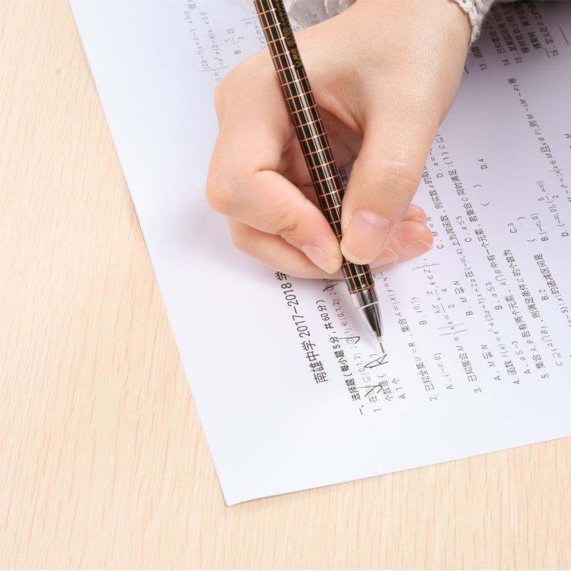 考试专用中性笔0.5mm全针管黑红蓝三色学生办公用一盒12支包邮