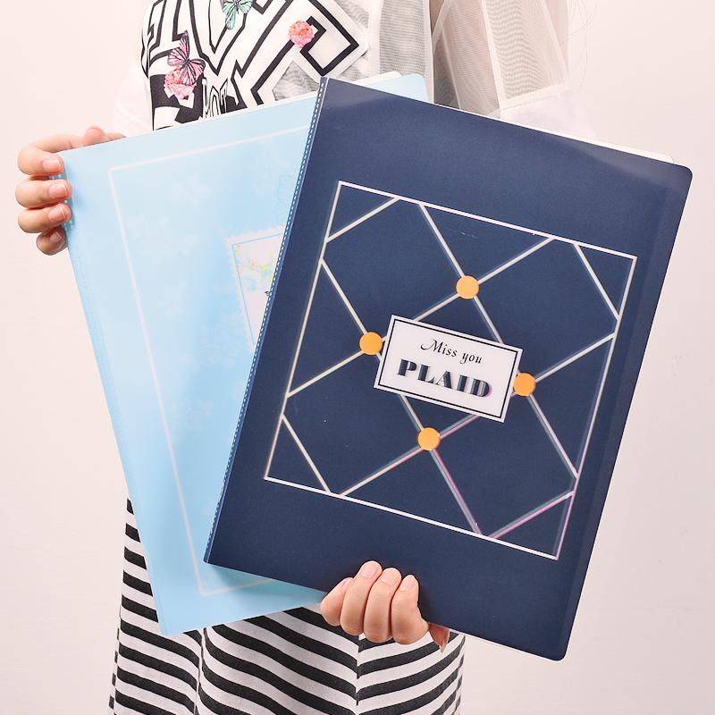 彩色资料册100页文件夹多层学生用插页袋乐谱夹产检收纳袋试卷夹
