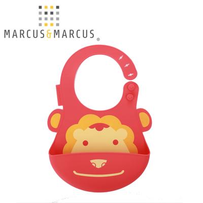 加拿大marcus儿童硅胶防水围兜餐具