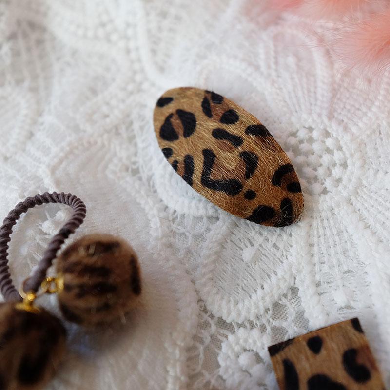 甜美baby童装新品儿童女童发饰BB豹纹系列发夹发圈女孩头绳