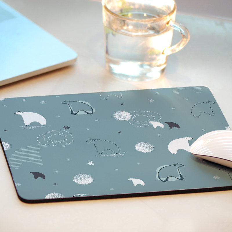 定制小号游戏鼠标垫创意卡通可爱简约清新女生办公笔记本电脑桌垫
