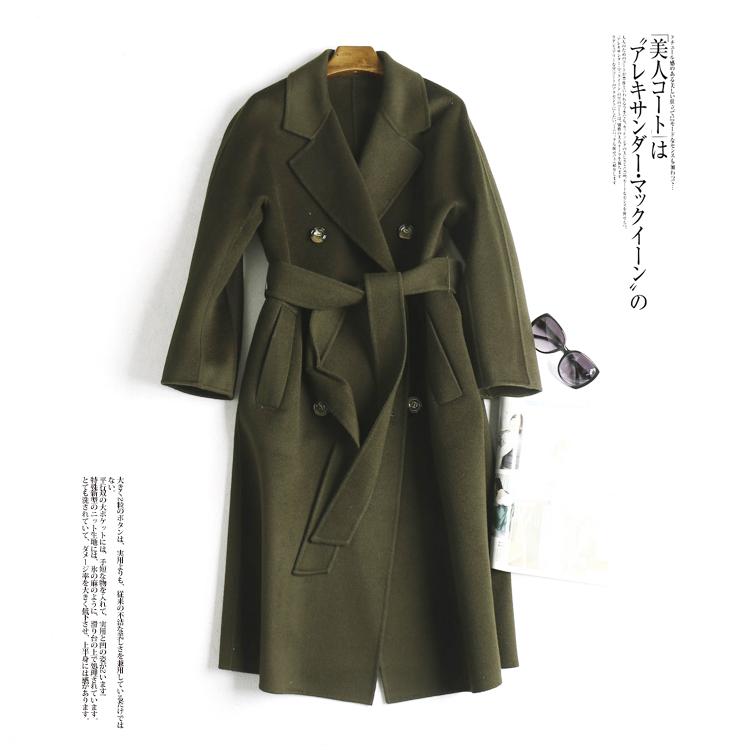 Chống mùa đặc biệt tính khí nổi bật ren eo đôi phải đối mặt với áo len áo khoác mùa thu và mùa đông mn87140